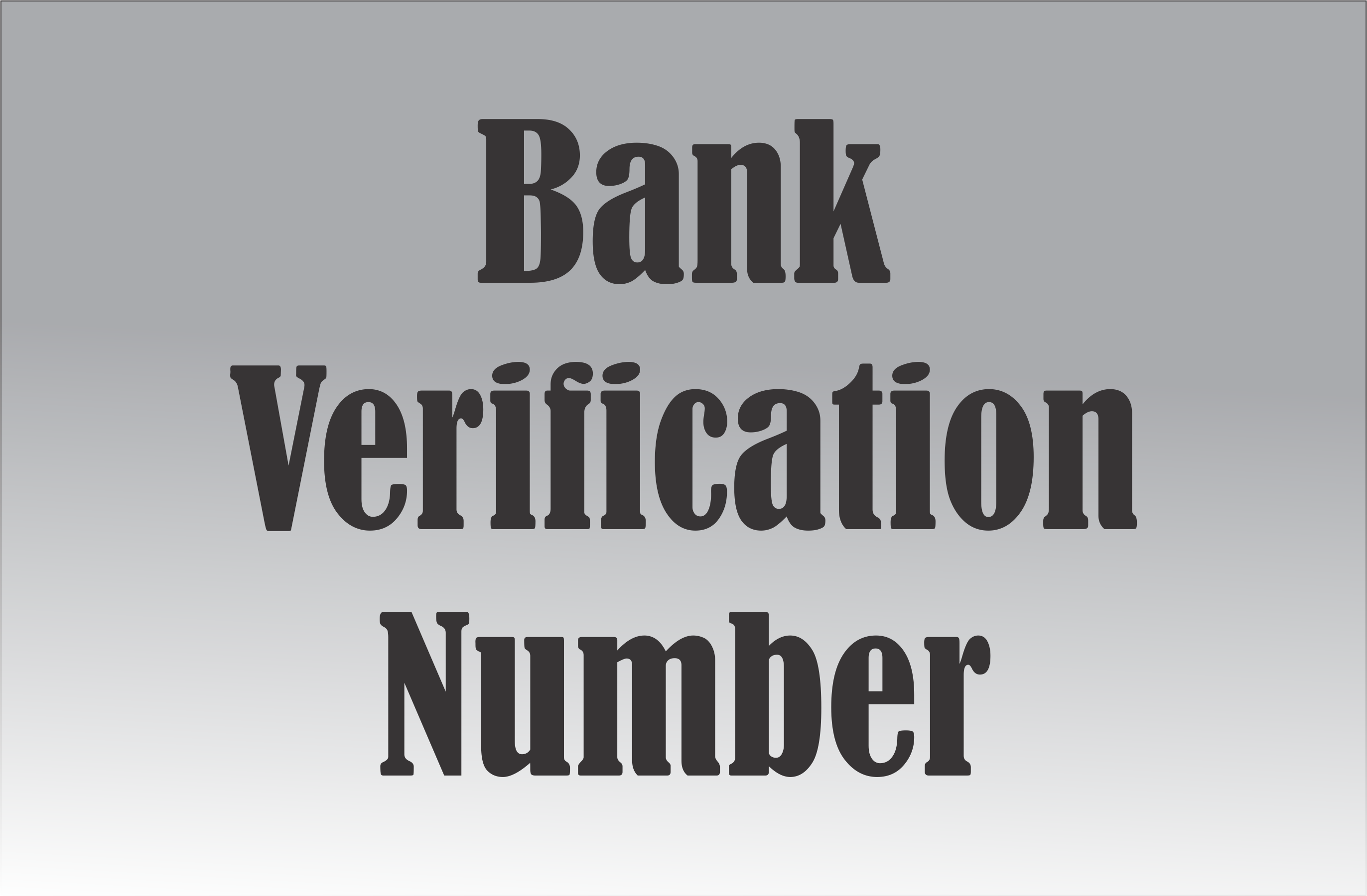 How to check bank verification number