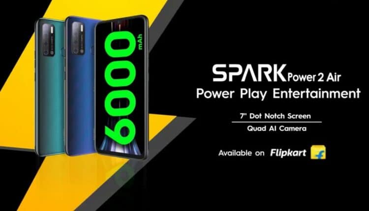 Tecno Spark Power 2 Air Unveiled in India and Will go on Sale on September 20