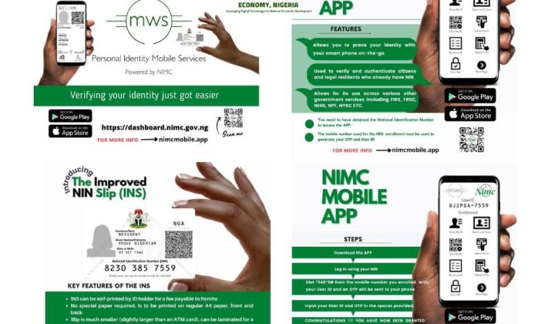 NIMC Unveils Mobile App For Applicants, Improved NIN Slip