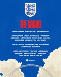 England Names 26-man Squad For Euros 2020