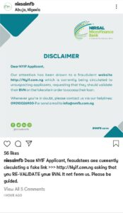Must Read: NMFB Issues Warning To All NYIF Applicants