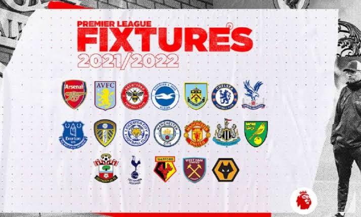 Premier League Fixtures For 2021/22 Season.