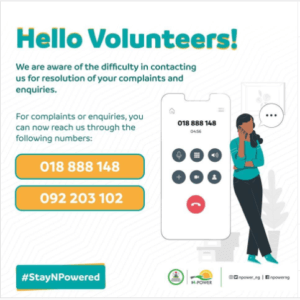 Npower Rolls Out New Contact Numbers For Easy Receival Of Beneficiaries Complaints.