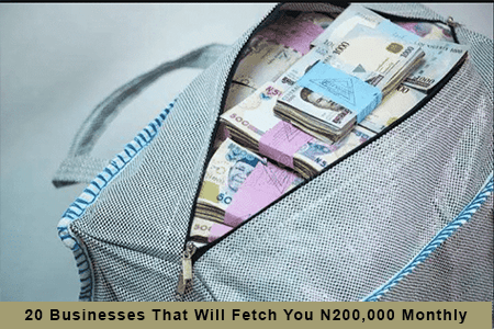 20 Businesses That Will Fetch You N200000 Monthly